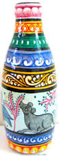Handicraft For Home Decoration by Painted Bottle Glass Art Pattachitra Home Decor Home Discovered