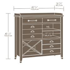 sauder carson forge sideboard 414783