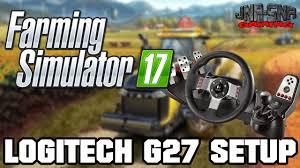 gaming setup simulator fs 17 logitech g27 setup farming simulator 17 youtube