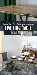 remodelaholic diy live edge table tutorial