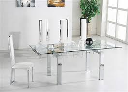 White Glass Extending Dining Table Expandable Glass Dining Room Tables Captivating White Glass
