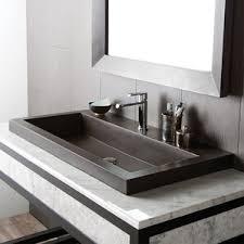 Double Trough Sink Bathroom Vanity Bathroom Double Trough Sink Wayfair