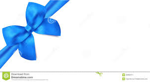 gift voucher gift certificate blue bow ribbons stock image
