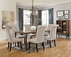 ashley furniture formal dining room sets double pedestal with