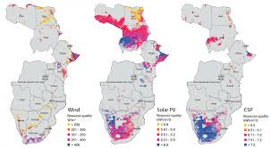 africa map study renewable energy has robust future in much of africa study