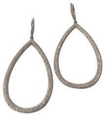 nadri earrings nadri white cubic zirconia pave drop earrings tradesy