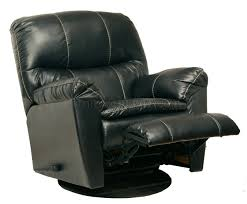 Black Leather Swivel Chairs Black Leather Touch Cosmo Modern Swivel Glider Recliner