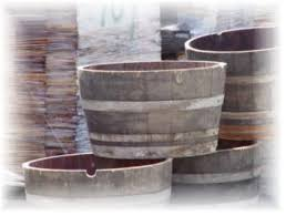 half wine barrel planter wine barrels for sale recycled