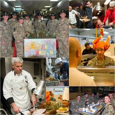 here s how some of our deployed troops celebrated the thanksgiving