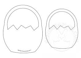 printable easter basket template easter template
