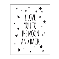 you to the moon and back poster reach for the
