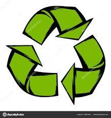 imagenes animadas sobre el reciclaje verde reciclaje símbolo icono de dibujos animados vector de stock