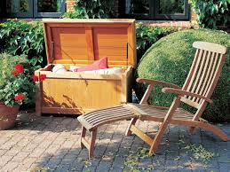 furniture outdoor wood patio storage with wood lounge chair and