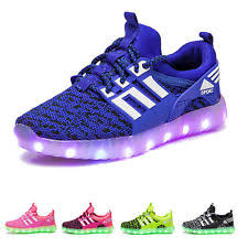 led light up shoes for boys unbranded shoes for boys with lights ebay