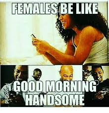 Females Be Like Meme - females be like good morning handsome be like meme on me me