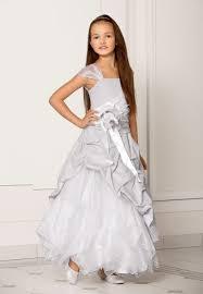 robe mariage fille robe enfant de ceremonie fille grise christella