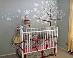 popular white and gray modern baby boy rooms decors with trees