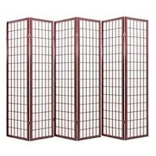 amazon com japanese oriental style room screen divider cherry 6