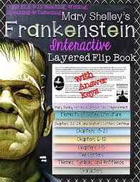 frankenstein novel study literature guide flip book flip books