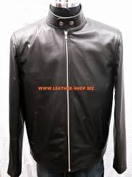 mens leather motorcycle vest leather jacket custom made racer style mlj250 www leather shop biz