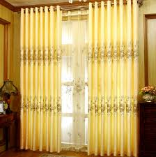 customize gold jacquard ready made blackout curtains