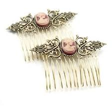 hair combs hair accessories cameo hair combs by ghostlove polyvore