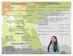 memorial service programs 10 memorial service programsagenda template sle agenda
