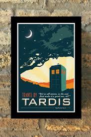 tardis doctor who travel poster vintage print geekery wall art