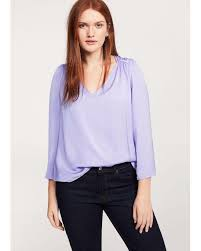 lilac blouse lyst violeta by mango ruched satin blouse in purple