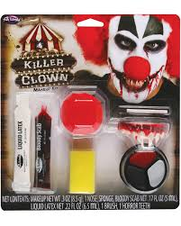 horror clown makeup kit 9 pcs to fear horror shop com