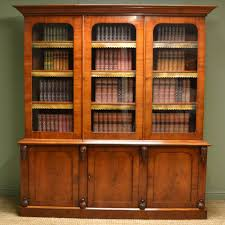 Vintage Bookcase With Glass Doors Antique Bookcase Give A Decorative Touch Home Design By