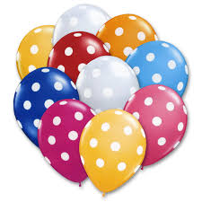 polka dot balloons polkadot assorted summer colors 12 inch balloons bouquet