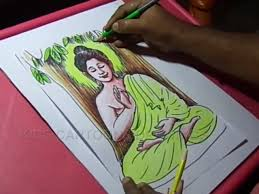 how to draw lord buddha color drawing video dailymotion