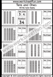 tens and units worksheets printable tens and ones 5 worksheets free printable worksheets
