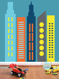 skyscrapers wall decals large nursery wall decor wall zoom