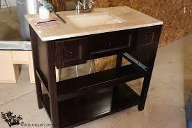 Painting Bathroom Vanity by Powder Bathroom Vanity Makeover The Wood Grain Cottage