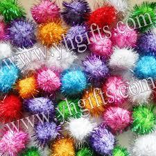 100pcs lot 4 5cm glitter pompom multicolor pom pom