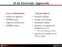 jefferson lab travel update seminar seminar f o c u s approvals