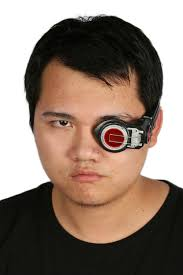 halloween eye lights deadshot electronic eye patch movie squad halloween masks