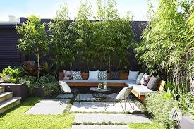 Garden Design Ideas Sydney Styling With Large Pavers And Built In Bench Adam Robinson