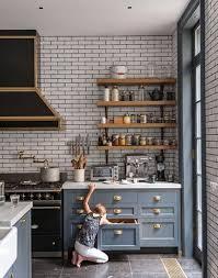 art deco kitchens art deco kitchen with subway tiles on the walls mid century