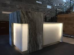 Granite Reception Desk Commercial Brekhus Tile U0026 Stone Inc