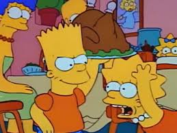 when bart ruins thanksgiving simpsonsfaces