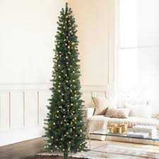 simple design slim pre lit trees clearance rustic