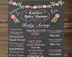 baby shower chalkboard chalkboard baby shower sign girl baby shower decoration baby
