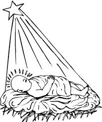birth christ jesus coloring pages creativemove