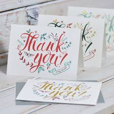 thank you cards thank you cards by oakdene designs notonthehighstreet