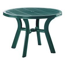 Outdoor Patio Dining Table Amazon Com Truva Resin Round Dining Table 42 Inch 29