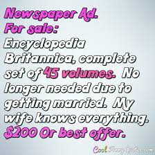 getting married quotes newspaper ad for sale encyclopedia britannica complete set of