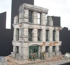 3 story building dioramas plus 1 35 government ruins ruined 3 story german